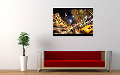 """NEW YORK CITY TAXI NEW GIANT LARGE ART PRINT POSTER PICTURE WALL 33.1""""x23.4"""""""
