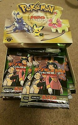 10 Pokemon Gym Challenge Set 1St Booster Packs Japanese Factory Sealed Box Rare