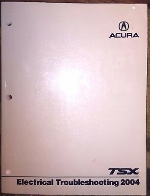 2004 Acura Tsx Oem Oem Electrical Troubleshooting Service Manual