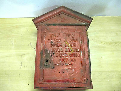 Antique Gamewell Cast Iron Fire Alarm  ~~Telegraph Station Call Box~~ No Key