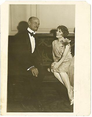 * Silent Film Star MADGE BELLAMY With Theatrical Producer DANIEL FROHMAN Candid