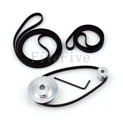 GT2 60/20 Teeth Width 6.5mm Timing Pulley Belt Set Kit Reduction Ratio 3:1