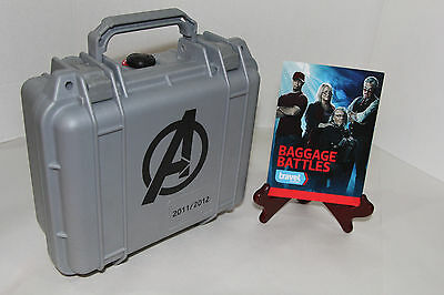 """The Avengers Movie Crew Gift Pelican AS SEEN ON """"Baggage Battles"""" RDJ Prop Case"""