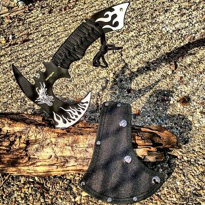"Hunt-Down 11"" White Dragon Axe Outdoor Hunting Camping Survival Steel Axe"