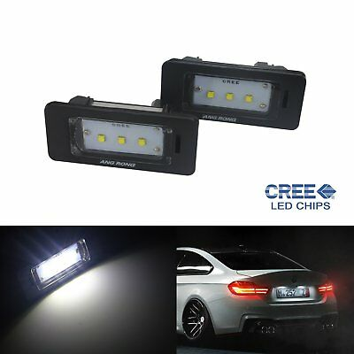2x 15W Cree LED Licence Number Plate Light No Error for BMW 1 2 3 5 Series X1 X5