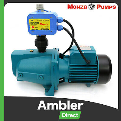 Monza 1500w Cast Iron High Pressure Jet Water Pump & Auto Controller
