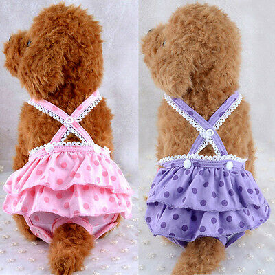 New Dog Sanitary Pants Dot Strappy Menstrual Safe Underwear Physiological Diaper