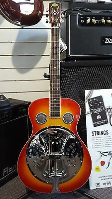 Regal RD-40 Regal Resonator Guitar - Includes Hardcase - Round Neck - USA Cone