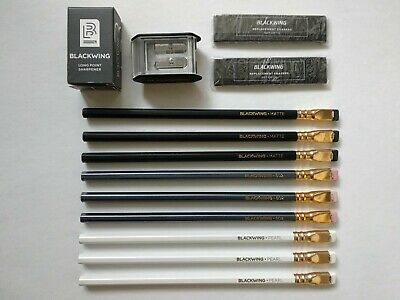 PALOMINO BLACKWING Pencil Favorite SET(Original, 602, Pearl, Eraser, Sharpener)