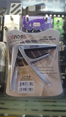 Aroma Quick Change Capo 6-String Classical Acoustic Guitar - Silver