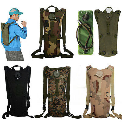Hydration Water Pack Backpack Rucksack Cycling Hiking Camping 3L Bladder Bag