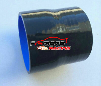 2.5 to 3 inch Straight Silicone Hose Reducer 63-76mm Coulper pipe Black