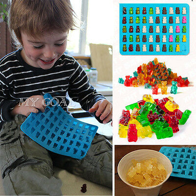 50pc Cavity Silicone Gummy Bear Chocolate Mold Moulds Candy Maker Ice Tray Jelly
