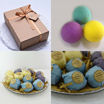 Premium Bath Bombs Gift Set by Mavogel -6 Pack of Assorted Spa Bath Fizzies New