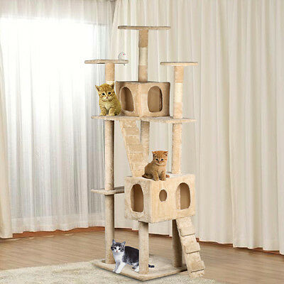 Luxurious 185CM Cat Tree Play House Tower Condo Furniture Scratch Post Toy Be