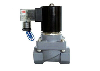 AC220V Electric Solenoid Valve  DN25 for Weak acid, weak base gas liquid N/C PVC