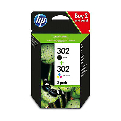 2x HP 302 Cartouche N/C Officejet 3830 Deskjet 2130 3630 Envy 4520