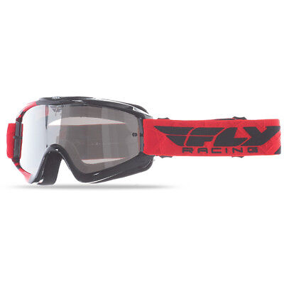 NEW Fly Racing MX Zone Red Black Dirt Bike Chrome Tinted Motocross Goggles