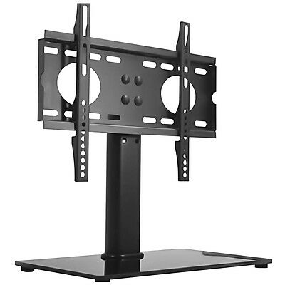 """Base fits Mount For LED LCD Plasma Table Universal TV StandWith Glass 26""""-32"""" UK"""