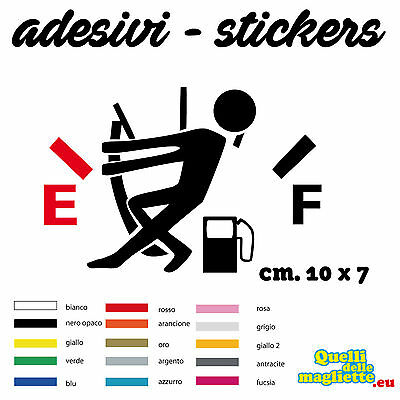 STICKER EMPTY FUEL RISERVA 2 Adesivo Decal PVC Vinile Auto Tuning - 10X7 CM 109A