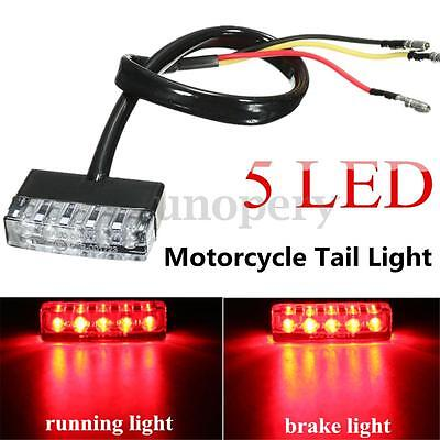 Moto 5 LED Lámpara Trasera Luz Freno Corriente Stop Light 12V Rojo Mini ATV E11