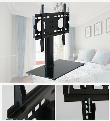 Base fits Mount For LED LCD Plasma Table Universal TV StandWith Glass 37-55 UK