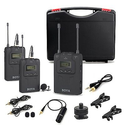 BOYA BY-WM8 UHF Wireless Lavalier Microphone System for ENG EFP DSLR Cameras