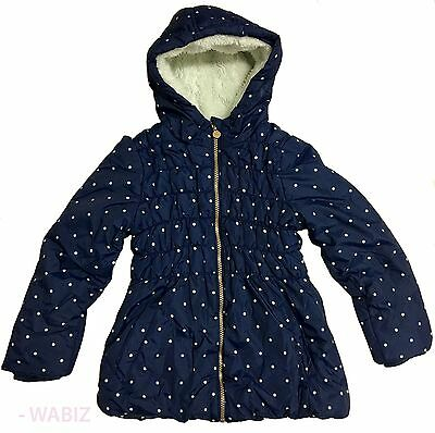 Girls Kids Winter Fleece  Hooded Coat Jacket School Causal Ex chain 11/2-7yrs