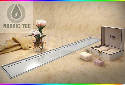 Stainless Steel SHOWER DRAIN Linear Drainage 60/70/80/90/100cm LOW SYPHOON 52mm