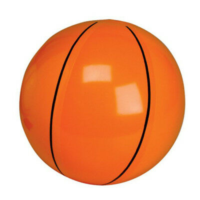 13 Inch Inflatable Orange Basketball Beach Ball - Blow Up Sports Kids Pool Toy