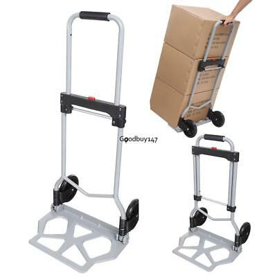 0c20afce2941 PORTABLE FOLDING HAND Truck Dolly Luggage Carts, Silver, 220 lbs Capacity  Shop s