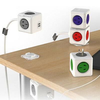 Portable Power Multifunctional Cube Line Socket 5 outlets/4 outlets + USB Output