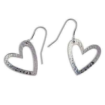 Cwtch Earrings in Cornish Pewter by St Justin PE892