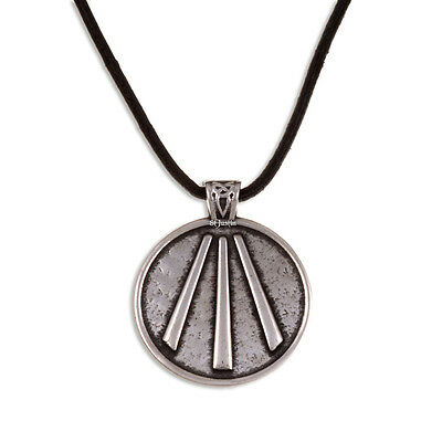 Welsh Awen Pendant on Leather Thong ,St Justin PN812