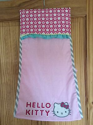 Nursery Baby Nappy Stacker Storage Bag Hello Kitty Pink Vgc