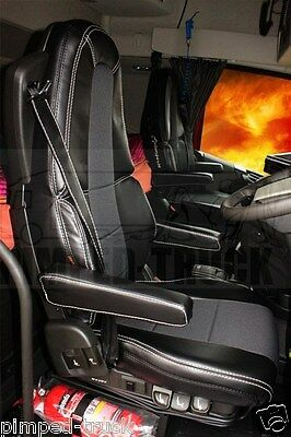 VOLVO FH4 Black ECO LEATHER SEAT COVERS