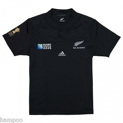 New Zealand All Blacks RWC 2015 Champion Rugby Jersey Shirt Top