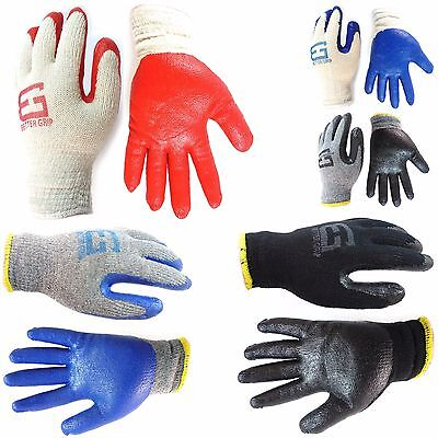 240 Pairs Better Grip Premium Double Dipped Latex Coated Work Gloves -BGE-240