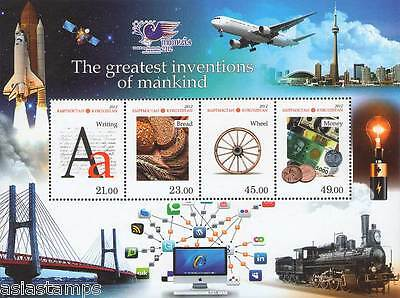 Souvenir Sheet. The Greatest Inventions of Mankind. Kyrgyz Post 2012