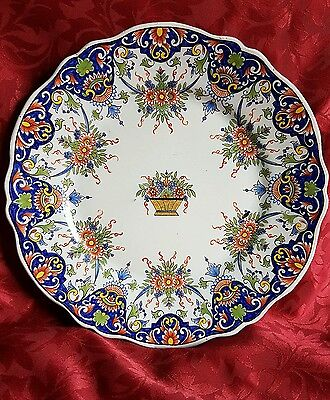 Antique French Faience Desvres Fourmaintraux Courquin Plate