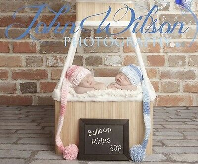 ***handmade Photo Prop Baby (Pink)Elf Hat Newborn-3Mths***