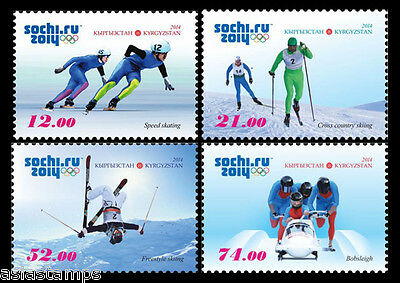 Stamp Set. Winter Olympic Games 2014 in Sochi. Kyrgyz Post 2014