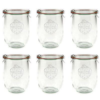 NEW Weck Tulip Canning Jar Set 1L/6pce