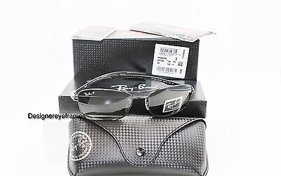 RAY BAN RB 8309 002/9A Carbon Fiber Black Green Polarized Sunglasses RB8309 NWT