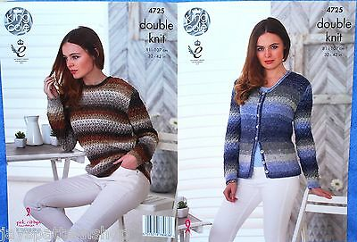 Ladies Double Knit Lacy Cardigan & Sweater Knitting Pattern 32 - 42 Inch