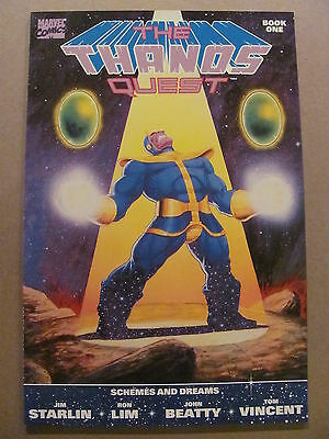 Thanos Quest #1 #2 Marvel 1990 Prelude to Infinity Gauntlet War 9.6 NM+ & 9.4 NM