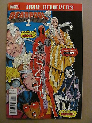 True Believers Deadpool #1 reprints New Mutants #98 1st app 1st Print 9.6 NM+