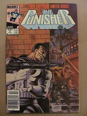 Punisher #2  Marvel Comics 1986 Limited Series Mike Zeck Newsstand Edition