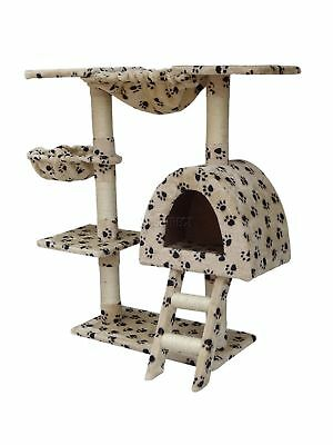 FoxHunter Kitten Cat Tree Scratching Post Sisal Toy Activity Centre BWP CAT001