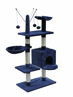 Kitten Cat Tree Scratching Post Activity Centre Bed Toys Scratcher 2288 Blue New
